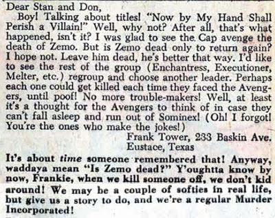 Avengers #18 LOC