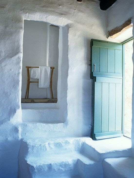 Typical Cycladic stone house in Mykonos