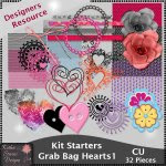 Kit Starters Grab Bag Hearts 1 CU Templates