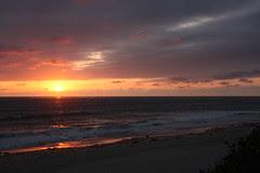 San Diego sunset over the beach