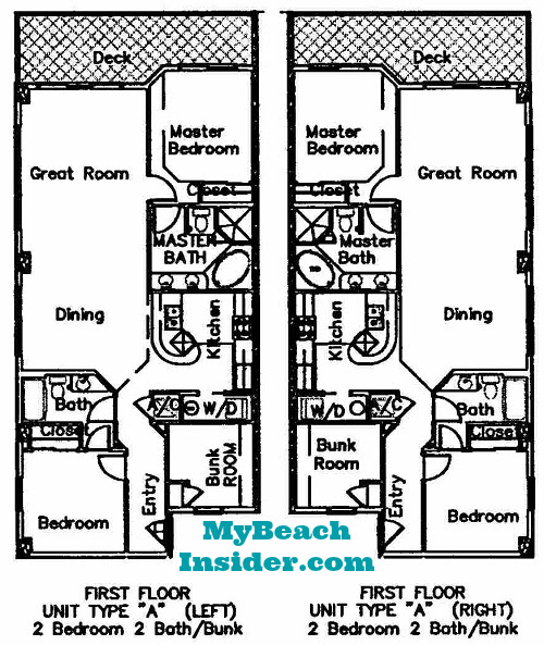 Seychelles Condominium Floor Plans - Panama City Beach