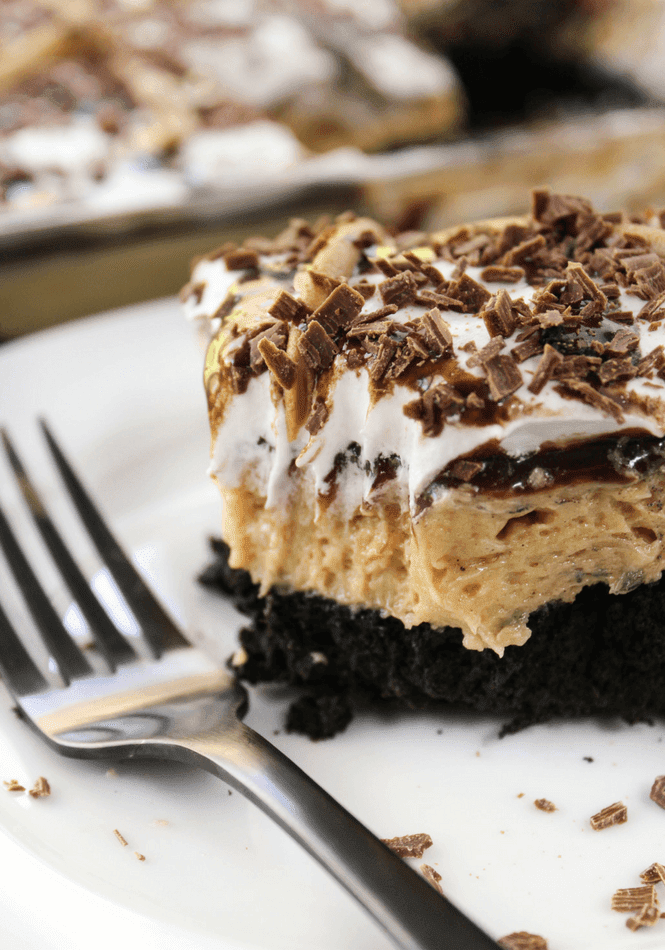 Peanut Butter and Chocolate Layered Dessert | Simply Made ...