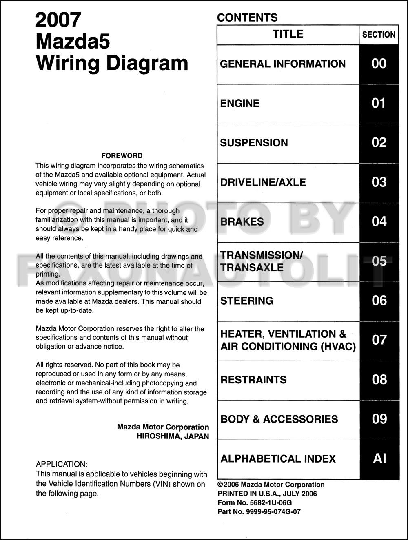 Diagram 2006 Mazda 5 Wiring Diagram Manual Original Full Version Hd Quality Manual Original Fogswitches Anarchiarave It