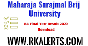 MSBU BA Final Result 2020 Brij University Part 3rd Year Name Wise Private Regular Non-college Download @msbrijuniversity.ac.in