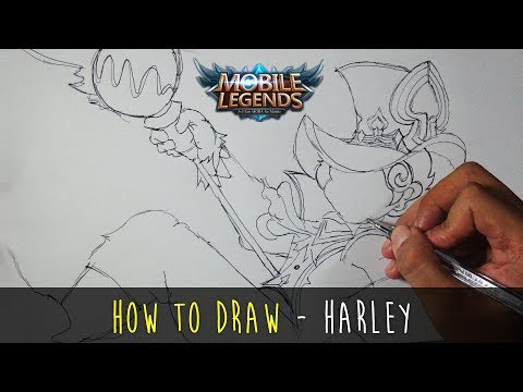 How To Draw A Cartoon Mobile Legends Char Fun Art Harley Tutorial