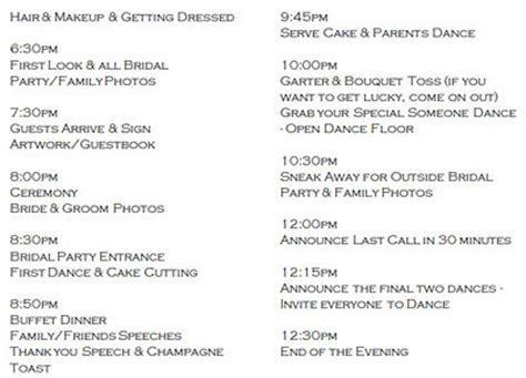 Wedding day schedule? Help Please!   Weddings, Planning