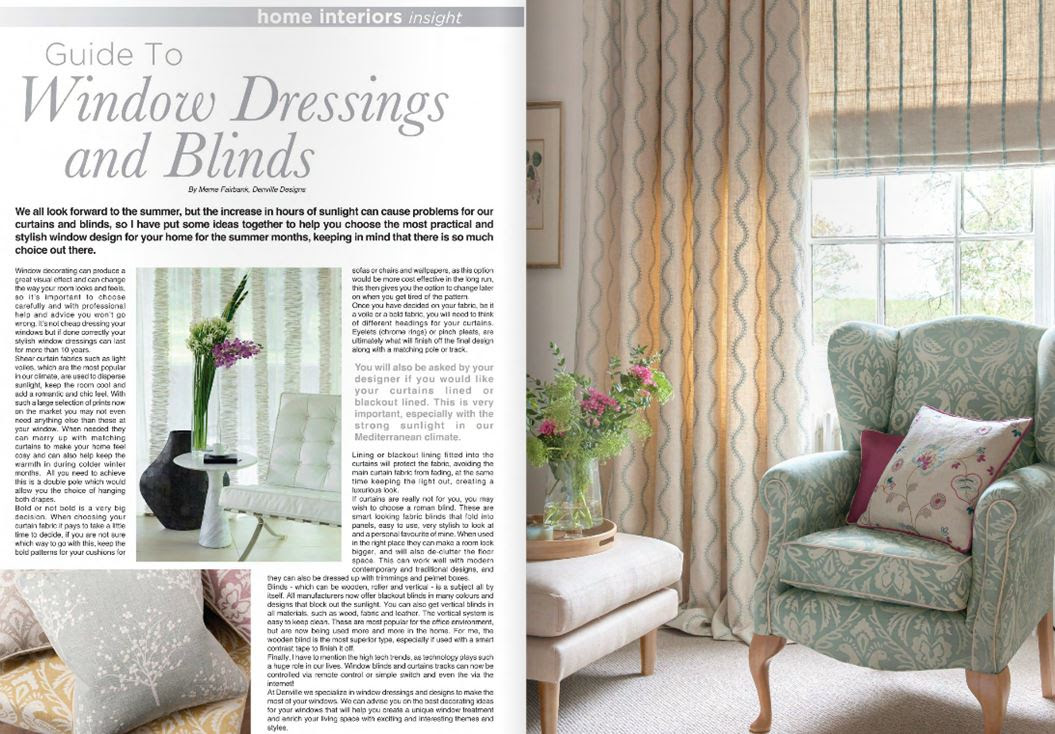 Guide To Window Dressings And Blinds Denville Designs Gibraltar