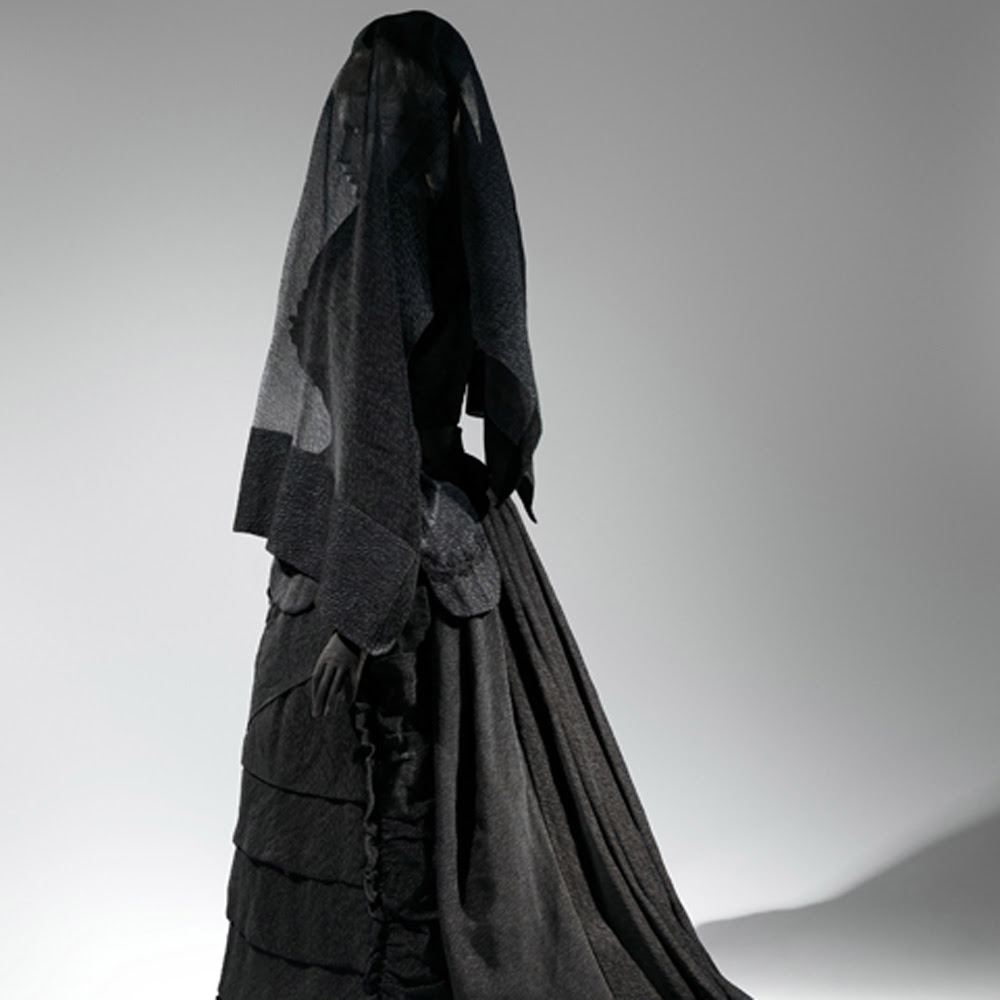 'death becomes her a century of mourning attire' opens at