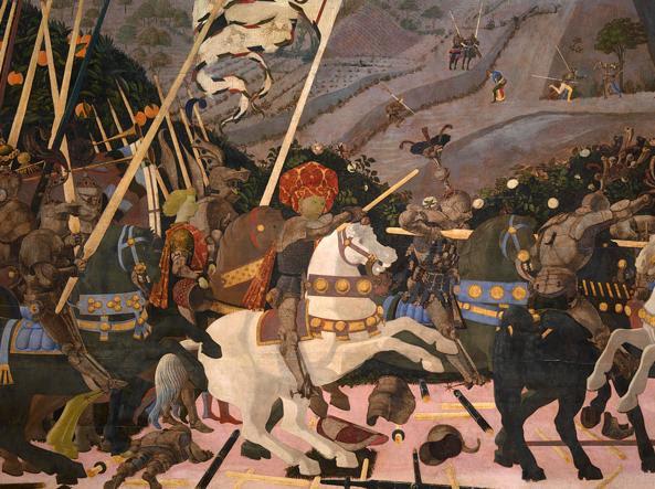 La Battaglia di San Romano di Paolo Uccello, oggi alla National Gallery di Londra