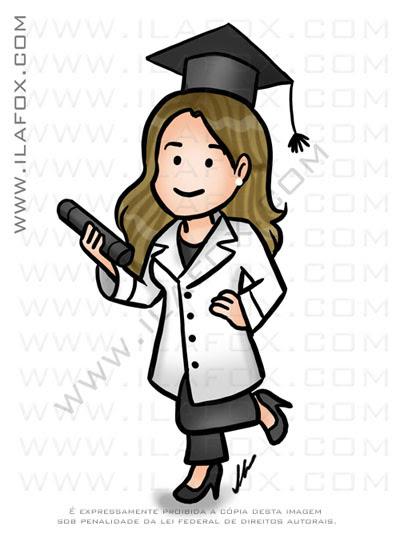 caricatura fofinha, caricatura simples, caricatura formatura, caricatura de jaleco, medicina caricatura formandos, by ila fox