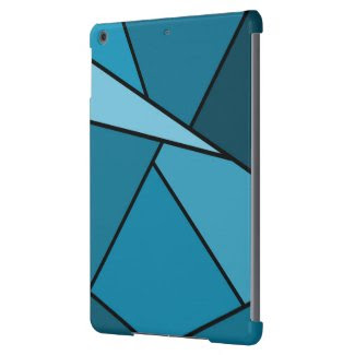 Abstract Teal Polygons iPad Air Covers