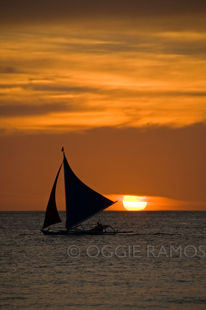 Boracay Sailboat Sunset