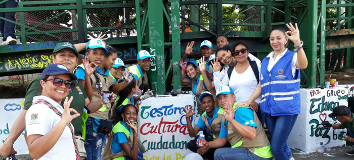 Los Gestores siguen activando mensajes de paz y cultura ciudadana