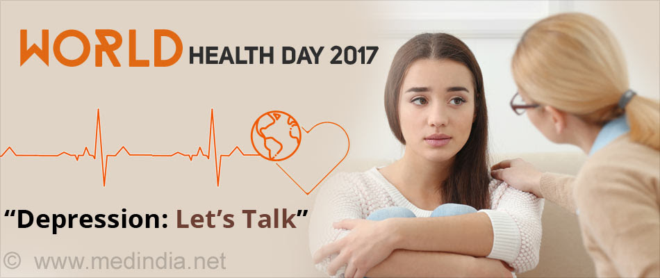 "World Health Day 2017 - ""Depression: Let's Talk"""