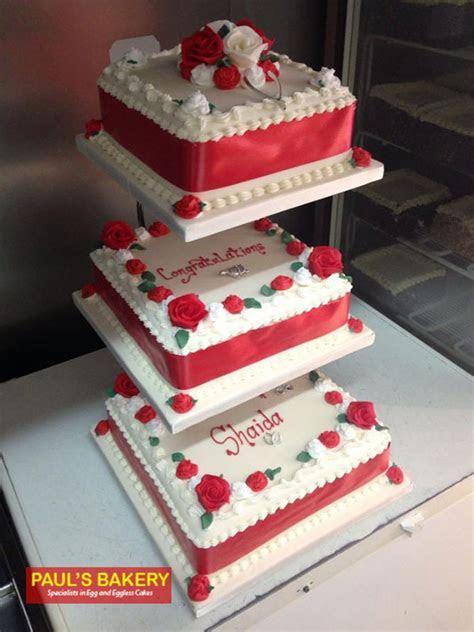 Icing Wedding Cake WIC 132   Paul's Bakery