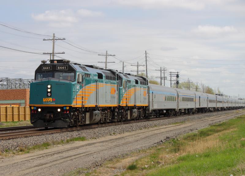 VIA 6441 in Winnipeg