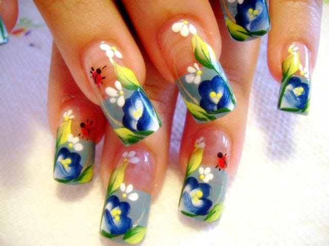 Nails Switc Toe Nail Flower Designs