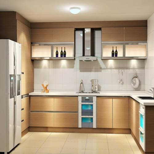 Brown Gorgeous Kitchen Cabinets With Modern Appliances ...