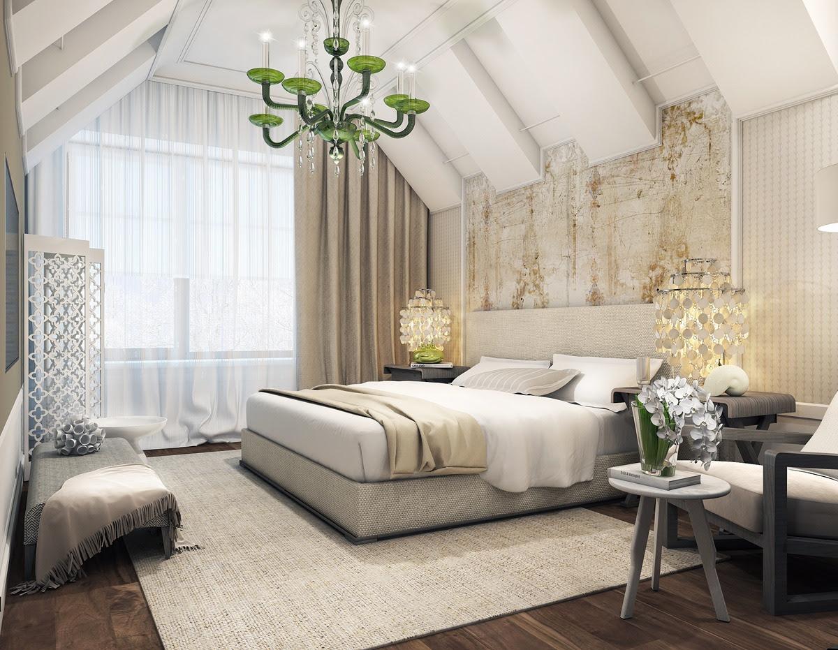 modern iattic bedroom Interior Designi Ideas