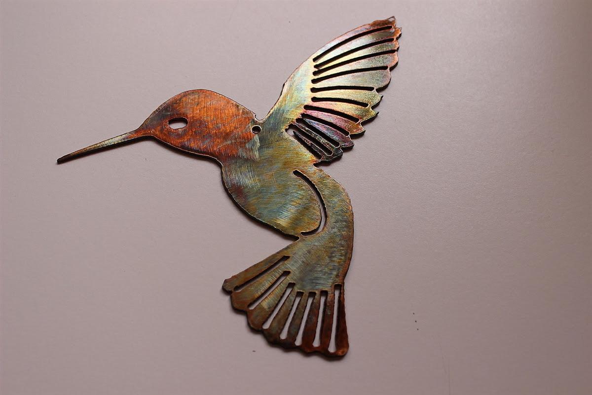 Hummingbird Pair Metal Wall Art Decor