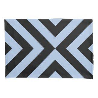 Light Blue And Black Chevrons Geometric Pattern Pillowcase
