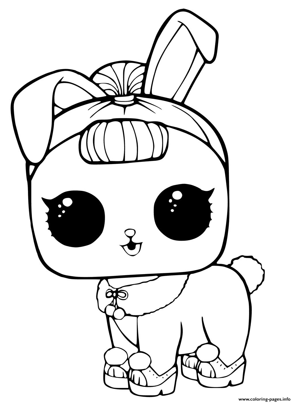 LOL Surprise Pets Coloring Page Crystal Bunny Coloring ...