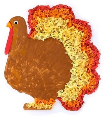 Preschool crafts for kids thanksgiving tissue paper for Pre k turkey crafts
