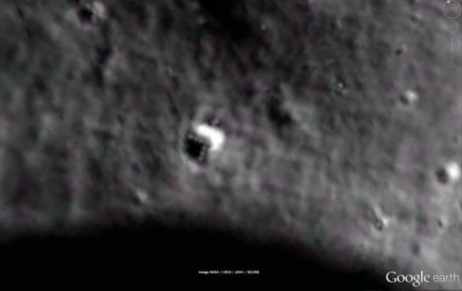 Yesterday I was amazed that scientists were 'baffled' by a rock suddenly appearing on Mars in front of the Rover. Today I'm baffled (and scientists pretty much silent) on an image of what appears to be a triangle shaped something on the moon.. It was caught using Google maps and looks like a space craft. Sure, eyes can deceive and things that look like something turn out to be nothing but shadows—a-la the Face on Mars. Some international media sources have picked up on the Internet flurry of UFO activity, such as the tabloid METRO in the UK  Another site, TECH AND GADGET NEWS, appears to be getting the most credit with popping the story into the somewhat mainstream. They are running an article about how the triangle shaped alien craft on the earth's satellite in the sky. You can read that article here: http://techandgadgetnews.com/ufo-tech-alien-base-spotted-google-moon-video/   There is also a YOUTUBE video with almost 200,000 views at this time detailing the possibilities of what the weird object or trick of the eyes could be.. Watch that here If you want to look it up yourself, its coordinates are 22°42'38.46″N 142°34'44.52″E