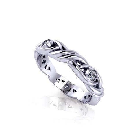 Diamond Crossover Wedding Ring   Jewelry Designs