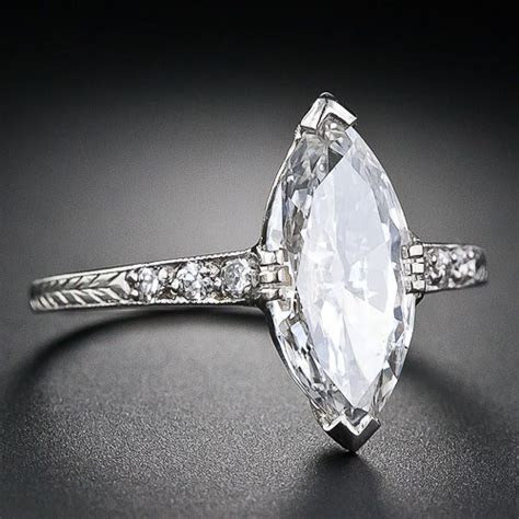1.41 Carat Art Deco Marquise Diamond Engagement Ring   10