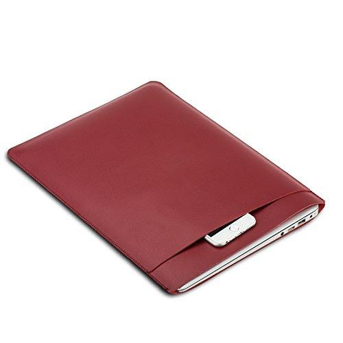3DWORLD Macbook / Macbook air / Macbook pro用ケース ノートパソコンケース 合成レザー (13'', レッド)