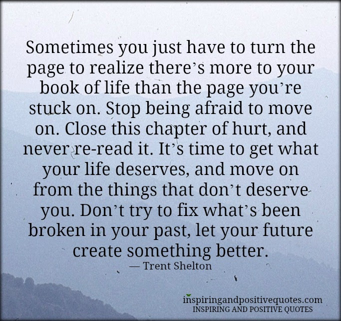 Turn The Page Inspiring And Positive Quotes