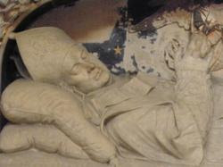 Tours 37 cathedrale saint gatien monument commemoratif de mgr colet
