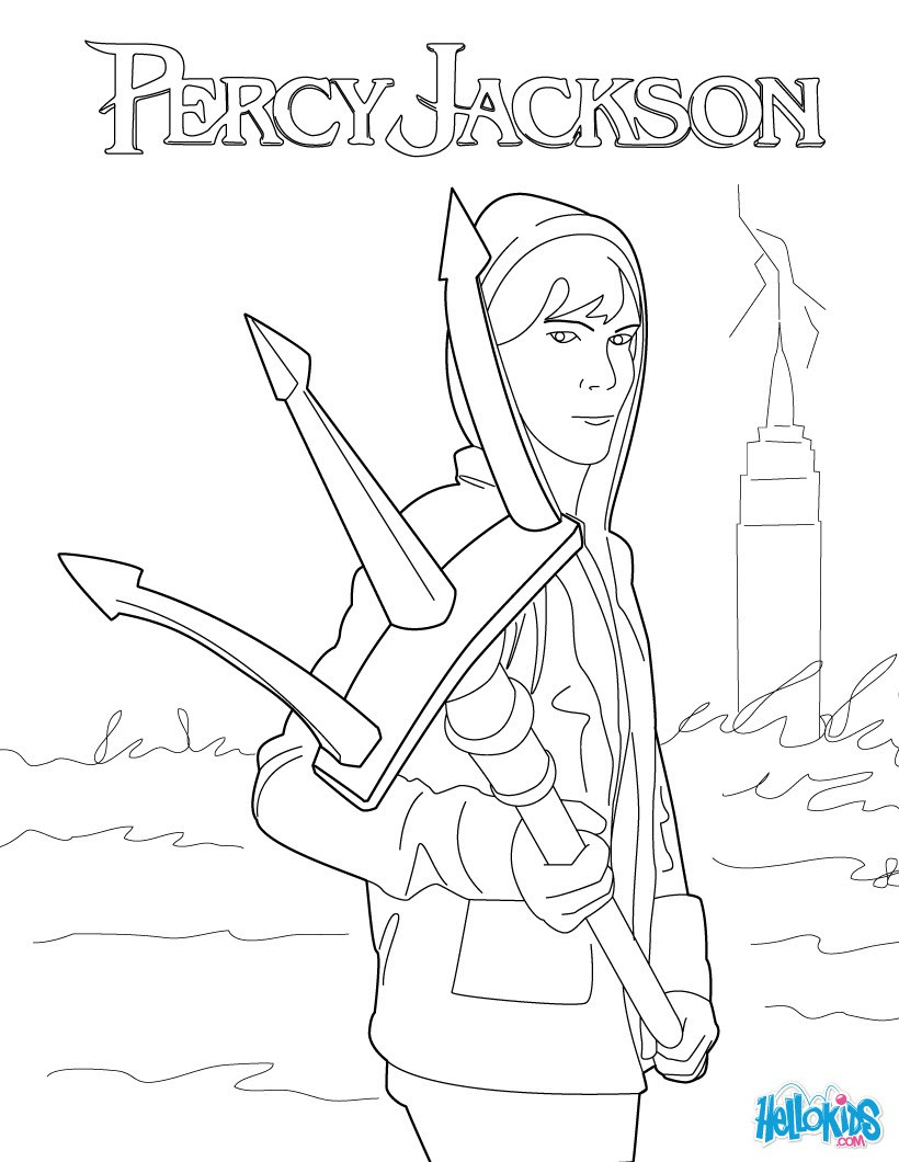 PERCY JACKSON coloring pages Percy s trident