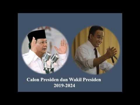 Setuju Maju Pilpres 2019 Prabowo - Anies