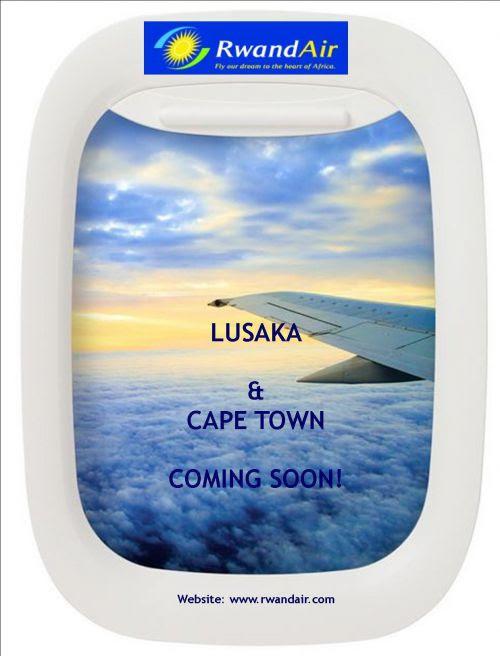 A RwandAir Ad that semi-officially confirms Lusaka & Cape Town.