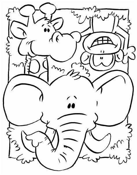 dibujo de animales de la selva  colorear  pintar