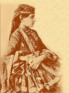 Caucasian beauty, archive photo from the 19th century