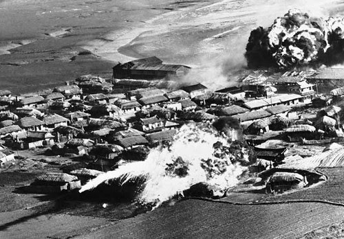 U.S. bombing of Hanchon, DPRK with napalm on May 10, 1951. July 2013 represents the 60th anniversary of the armstice. by Pan-African News Wire File Photos