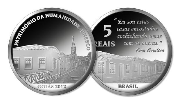 """A moeda comemorativa de Goiás, lançada pelo BC, que faz parte da série """"Cidades Patrimônio da Humanidade no Brasil"""" (Foto: Divulgação)"""