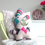 Pupazzo coniglietto da riciclo maglione Tutorial e Cartamodello