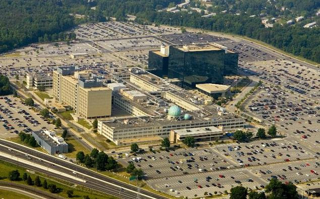 The National Security Agency (NSA) is seen from above on May 31, 2006, in Fort Meade, Maryland