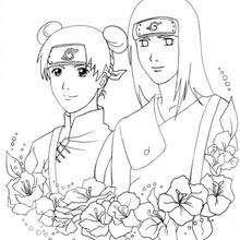 Dibujos Para Colorear Naruto Ten Y Neji Eshellokidscom