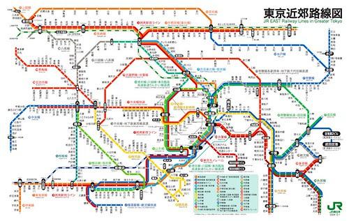 JR東京近郊路線圖