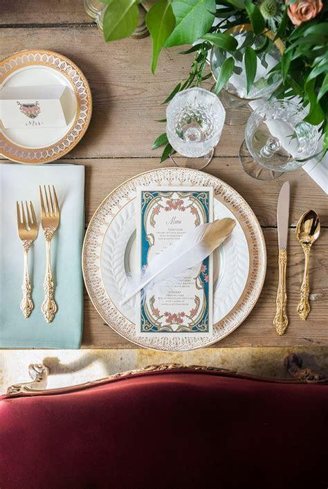 Ombre Art Nouveau Wedding Inspiration   Glamour & Grace