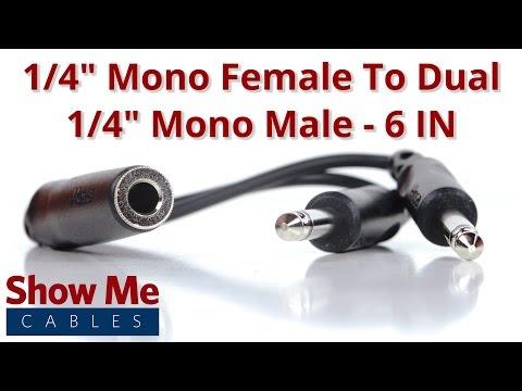 Mono 1 8 To 1 4 Adapter