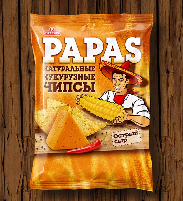 Tortilla Chips Papas packaging design 30+ Crispy Potato Chips Packaging Design Ideas