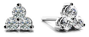 Trillium Diamond Studs