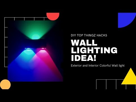 House Interior Colorful Wall lights Exterior Ideas Decoration Wall Lamp