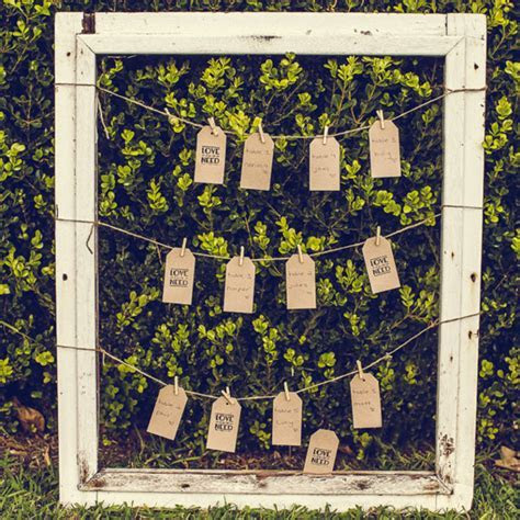 RUSTIC PICTURE FRAME SEATING CHART ? The Wedding   Event